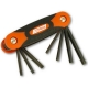 Cruz Tools Folding Hex/Torx Key Set